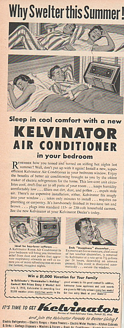 Kelvinator Air Conditioner Ad 1953