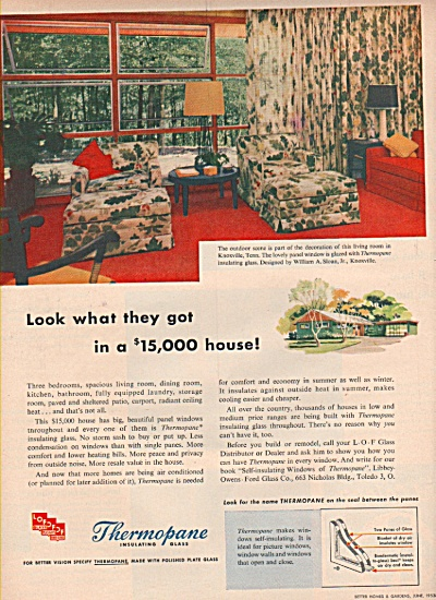 Thermopane insulating glass ad 1953 (Image1)