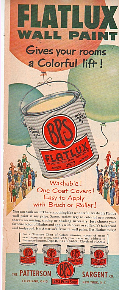 BPS - flatlux wall paint ad 1953 (Image1)