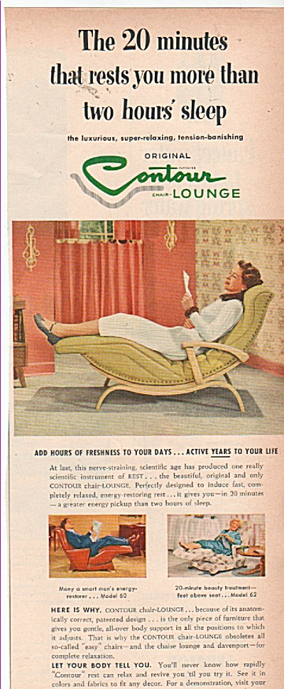 Contour lounge  chair ad 1953 (Image1)