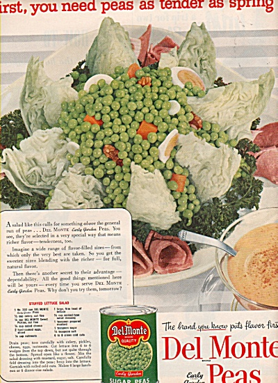 Del Monte peas ad 1953 (Image1)