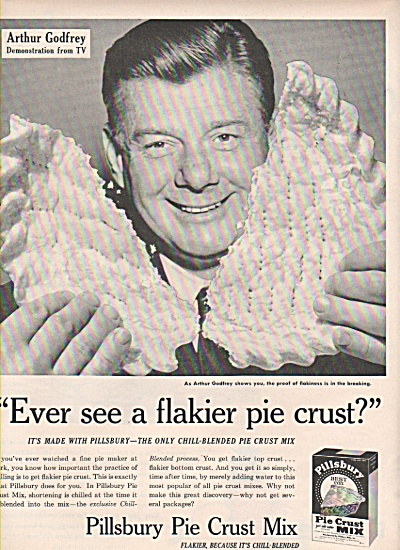 Pillsbury Pie crust milk - ARTHUR GODFREY  - 1953 (Image1)