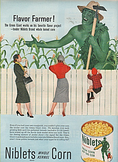 Niblets Corn - Green Giant - Ad 1953