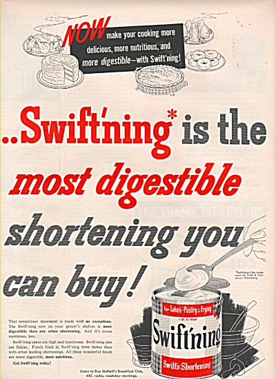 Swift'ning - Swift's shortening ad 1953 (Image1)