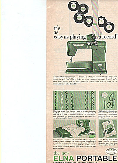 Elna Portable sewing machine ad 1954 (Image1)