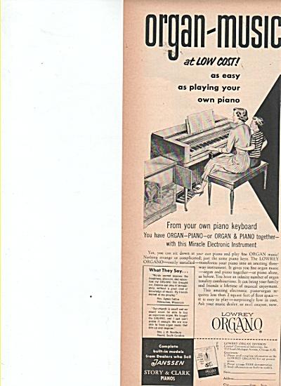 Lowrey Organ ad 1953 (Image1)
