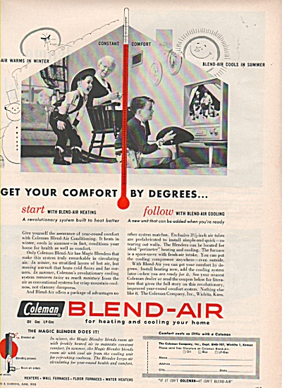 Coleman blend-air ad 1953 (Image1)