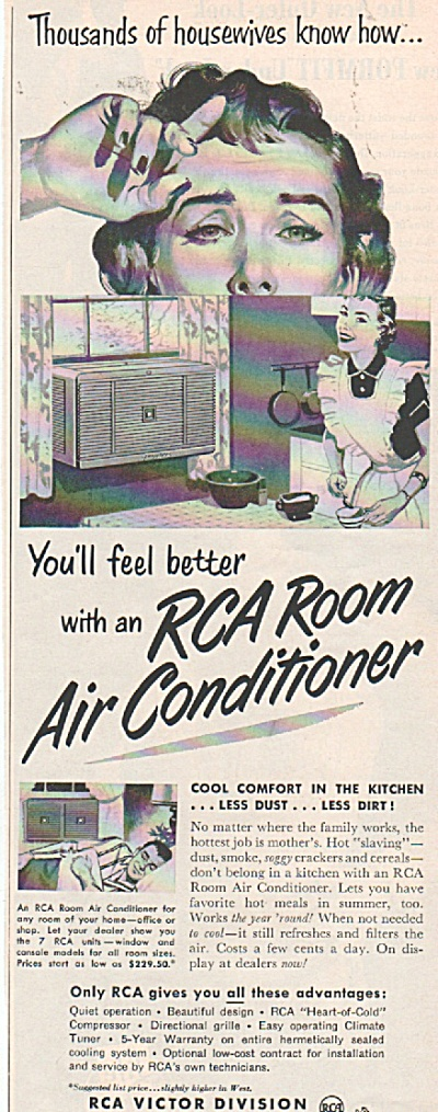Rca Room Air Conditioner Ad 1953