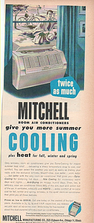 Mitchell Room Air Conditioners Ad 1953