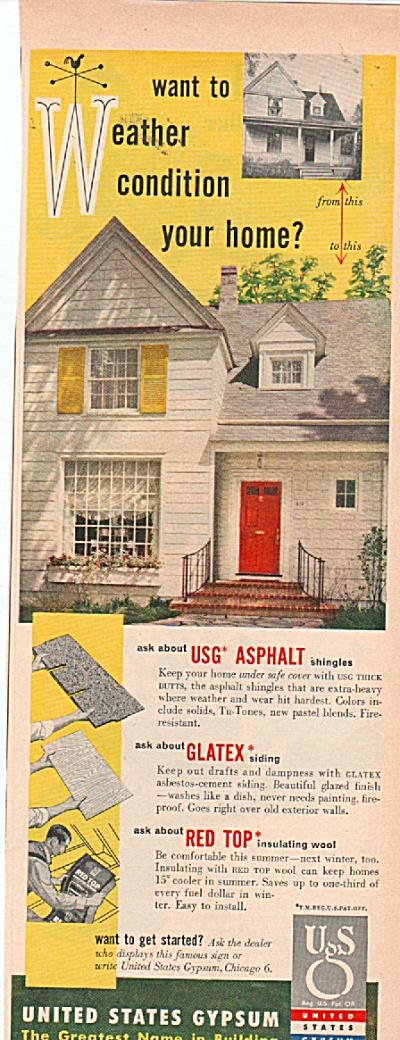 United States Gypsum  ad 1953 (Image1)