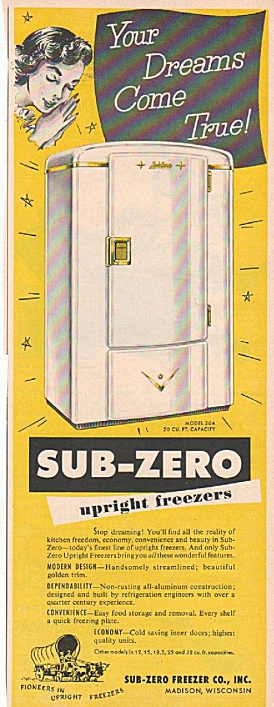 Sub-Zero Freezers ad 19 1953 (Image1)