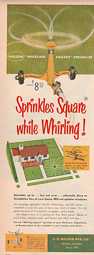 Nelson whirling square   sprinkler ad 1953 (Image1)