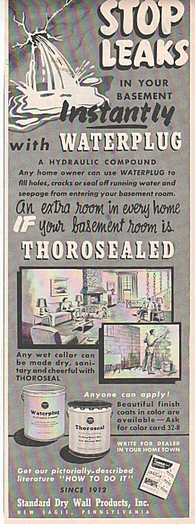 Standard dry wall products ad 1953 (Image1)