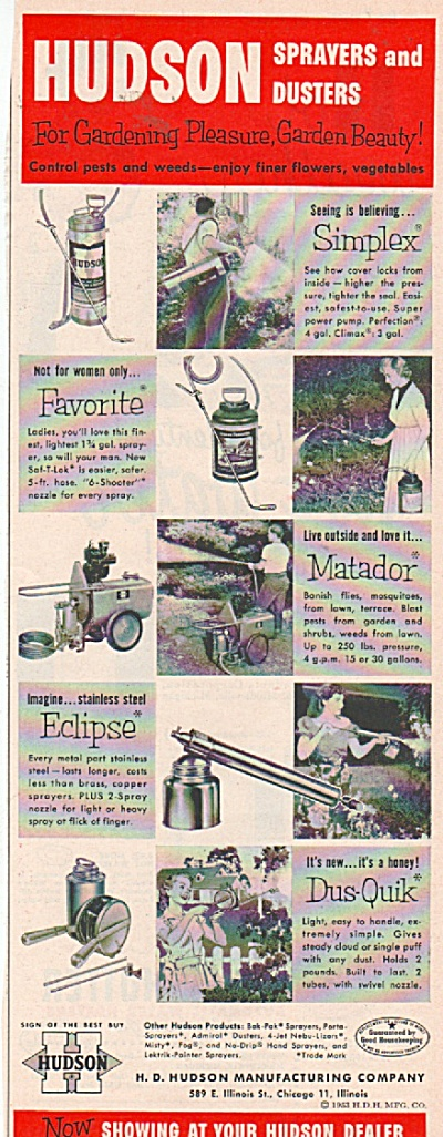 Hudson sprayers and dusters ad 1953 (Image1)