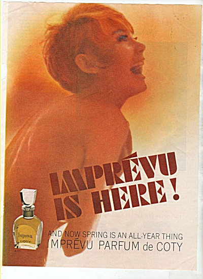 IMprevu parfum de Coty ad 1965 (Image1)