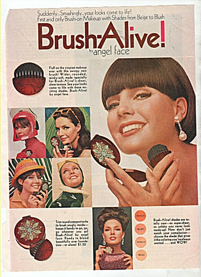 Brush alive by Angel Face ad 1965 (Image1)