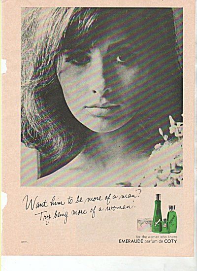 Emeraude by Coty ad 1965 (Image1)