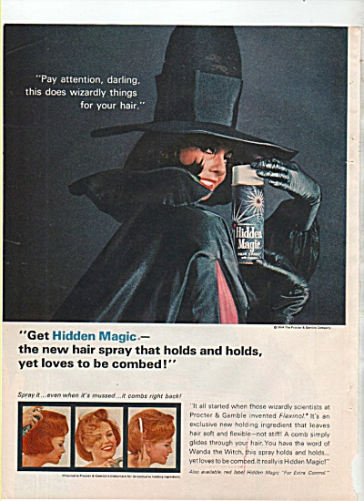 Hidden magic hair spray ad 1965 (Image1)