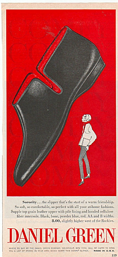 Daniel Green Shoes Ad 1965