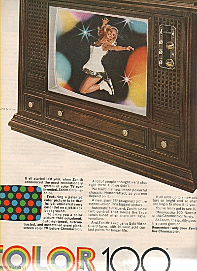 Zenith chroma color 100 TV ad 1970 (Image1)