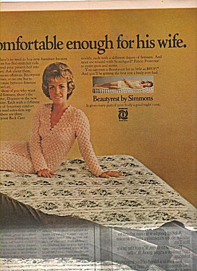 Beautyrest mattress - ROMAN GABRIEL  ad 1970 (Image1)