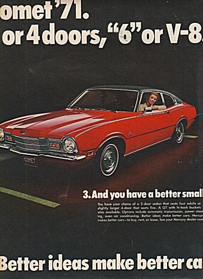 Mercury Comet 1971 ad (Image1)