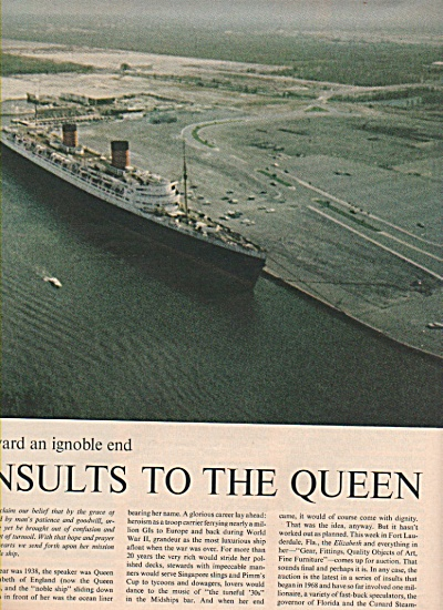 The Queen Elizabeth wallows toward an ignoble end 1970 (Image1)