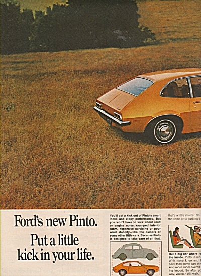 Ford Pinto ad 1970 PUT A LITTLE KICK IN YOUR LIFE (Image1)