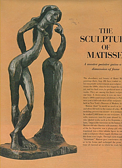 The Sculpture of MATISSE  story 1970 (Image1)