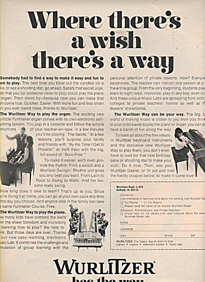 Wurlitzer Music ad 1970 (Image1)