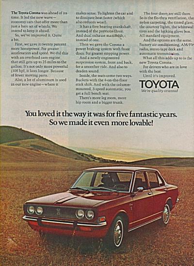 Toyota Corona ad 1970 (Image1)