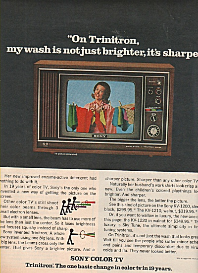 Sony color TV ad 1w970 (Image1)