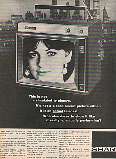 Sharp television ad 1970 (Image1)