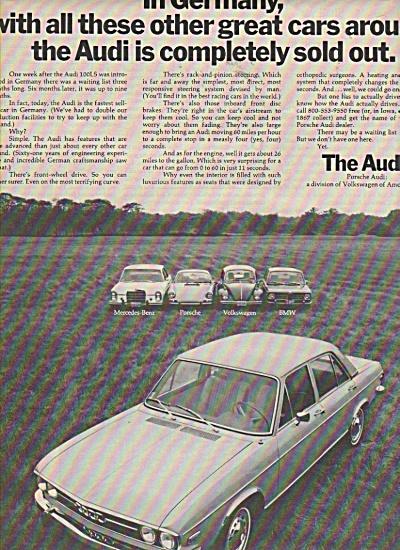 The Audi- Porsche Audi ad 1970 (Image1)