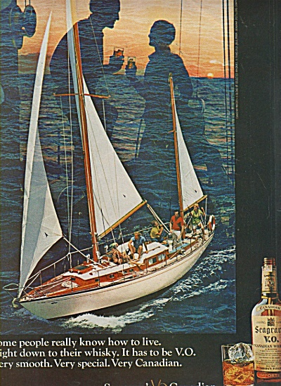 Seagram's Vo Canadian Ad 1970