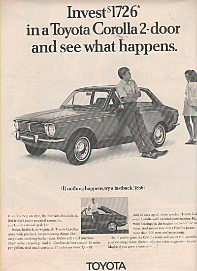 Toyota Corolla 2 door auto ad 1970 (Image1)