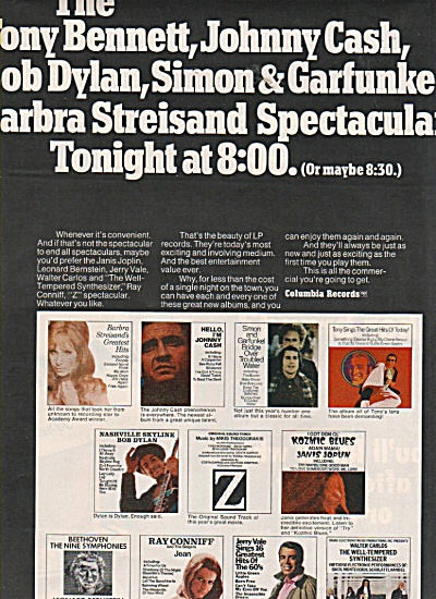 Columbia records ad 1970 (Image1)