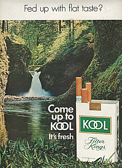 Kool filter kings cigarettes ad 1970 (Image1)