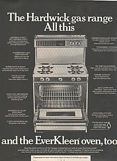 The Hardwick Gas range ad 1970 (Image1)