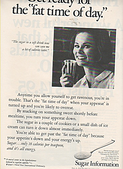 Sugar Information Ad 1970