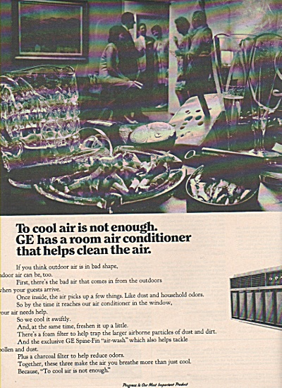 General Electric Air Conditioner Ad 1970