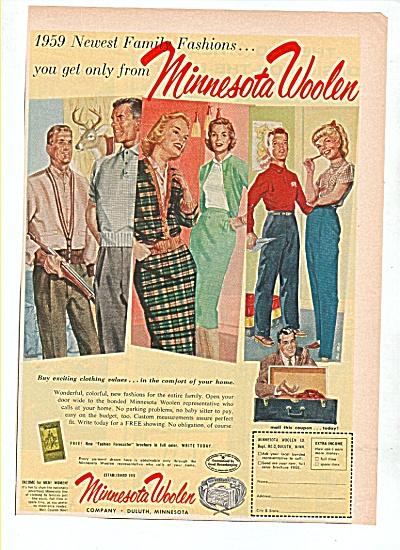 Minnesota Woolen company ad 1959 (Image1)