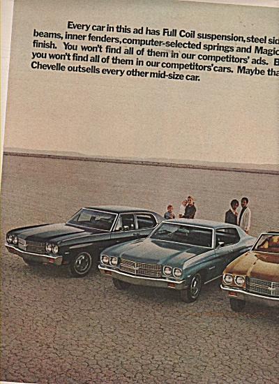 Chevrolet automobiles ad 1970 (Image1)
