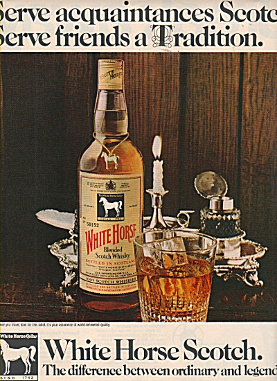 White Horse Scotch ad 1970 LEGENDARY (Image1)