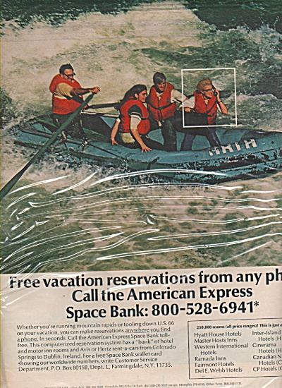 American Express space bank ad 1970 (Image1)