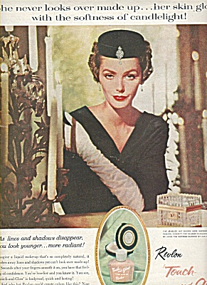 Revlon Touch And Glow Ad 1959