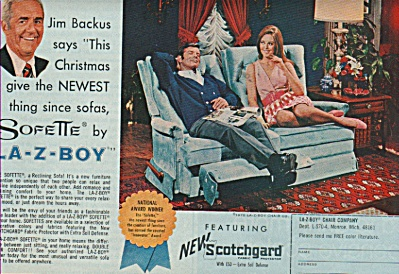 La-z-boy - JIM BACKUS  ad 1970 (Image1)