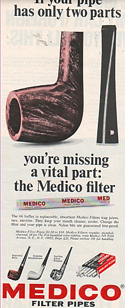 Medico filter pipes ad 1970 (Image1)