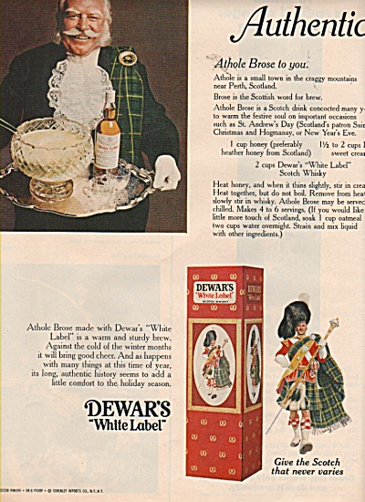 Dewars white label scotch ad 1970 (Image1)