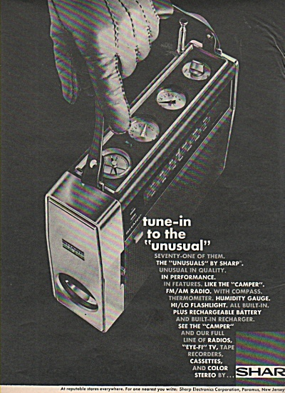 Sharp Portable Radios Ad 1970